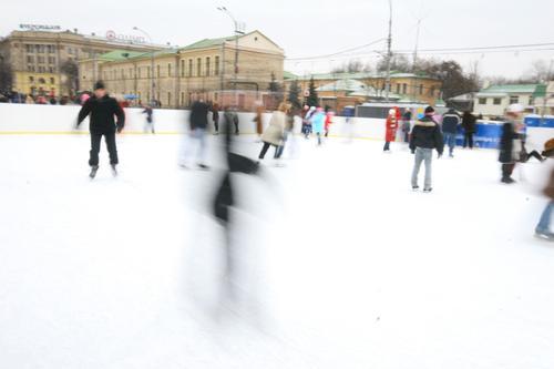 la patinoire de la place svobody de Kkarkiv