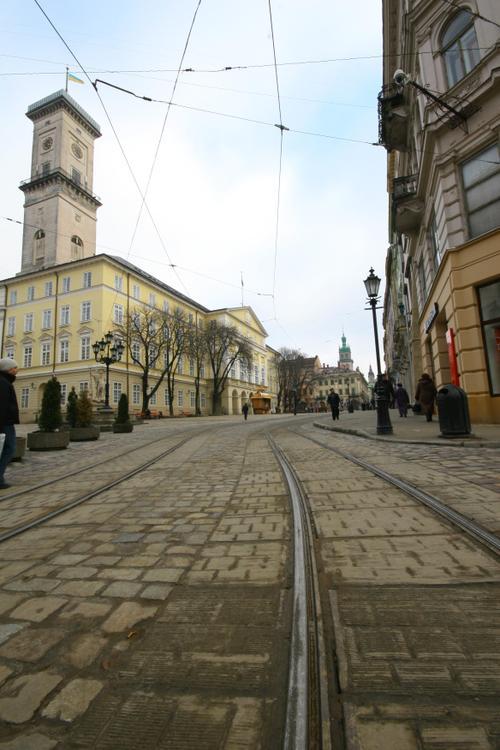 Rails du tramway, Lviv